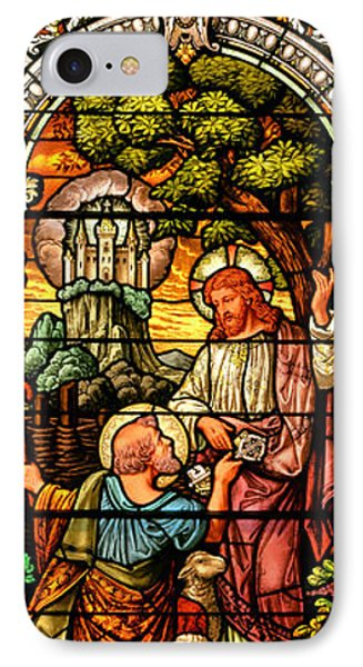 IPhone Case featuring the photograph Stained Glass Scene 9 by Adam Jewell