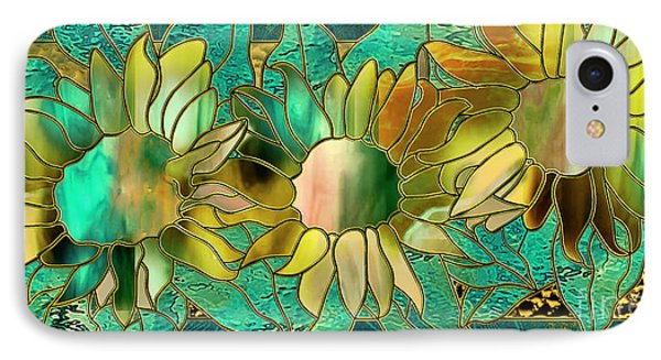 Stained Glass Sunflowers IPhone Case