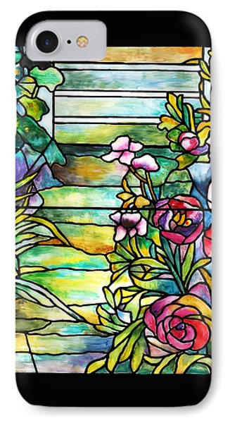Stained Glass Tiffany Robert Mellon House IPhone Case by Donna Walsh