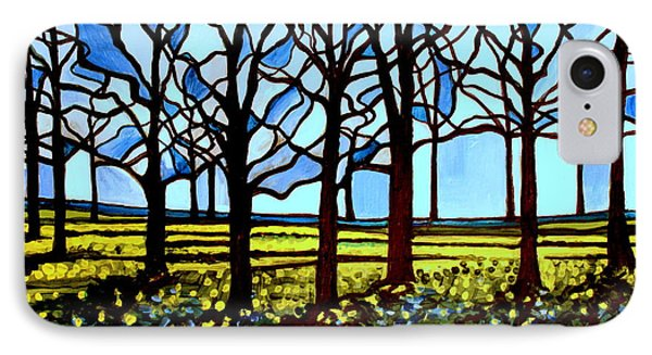 Stained Glass Trees Phone Case by Elizabeth Robinette Tyndall