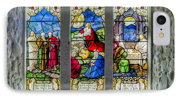 Stained Glass Triptych IPhone Case by Adrian Evans