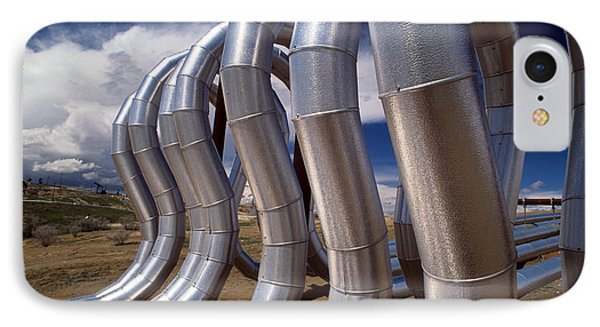 Stainless Steel Oil Pipes IPhone Case by Jan Halaska