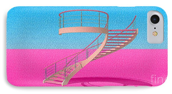 Stair 11 Architecture Sketch Abstract Art IPhone Case by Pablo Franchi