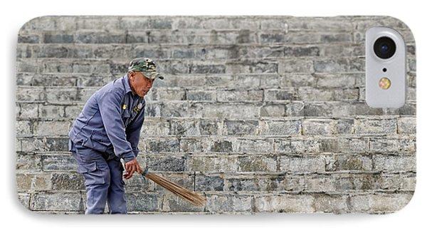 Stair Sweeper In Bhutan IPhone Case by Joe Bonita