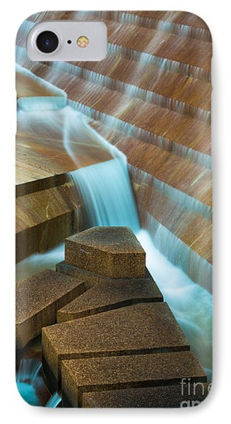 Staircase Fountain IPhone Case by Inge Johnsson