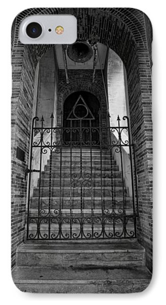 Stairs Beyond B-w Phone Case by Christopher Holmes