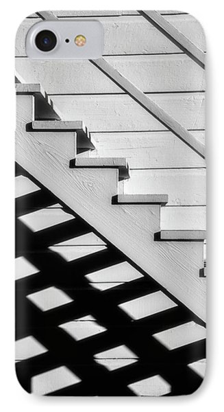 Stairs In Black And White IPhone Case