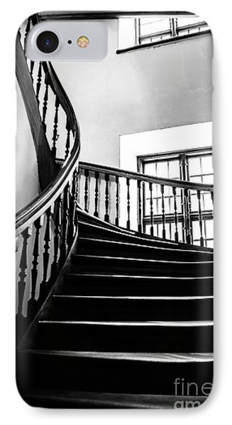 Stairway Riga Latvia Bw IPhone Case by RicardMN Photography