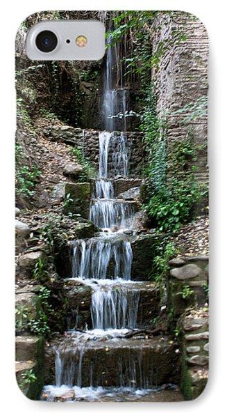 Stairway Waterfall Phone Case by Lorraine Devon Wilke