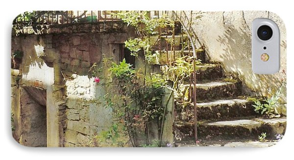 Stairway With Flowers Flavigny France IPhone Case by Marilyn Dunlap