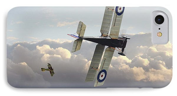 IPhone Case featuring the digital art Stalked - Se5 And Albatros Dlll by Pat Speirs