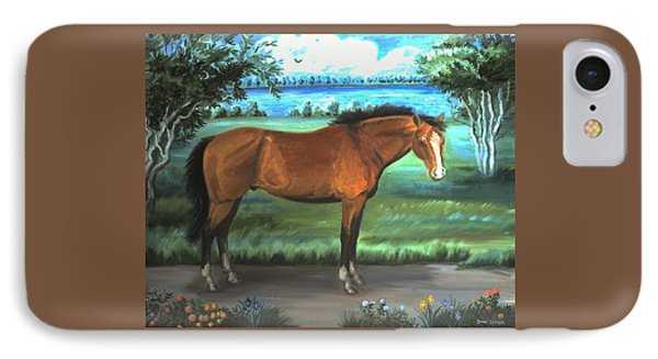 IPhone Case featuring the painting Stallion Portrait by Dawn Senior-Trask
