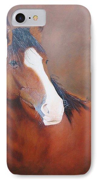 Stallion Portrait IPhone Case by Jean Yves Crispo