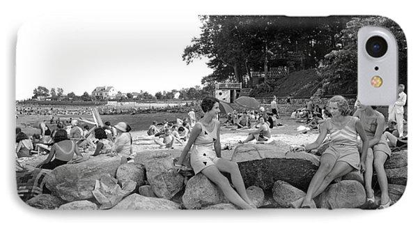 Stamford Shorewood Beach Club IPhone Case by Underwood & Underwood