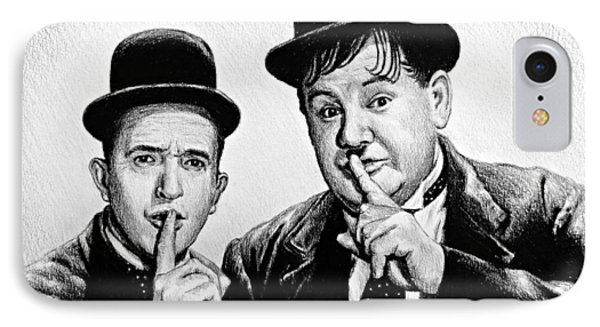 Stan And Ollie IPhone Case by Andrew Read