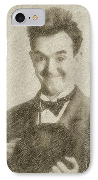 Stan Laurel Vintage Hollywood Actor Comedian IPhone Case by Frank Falcon