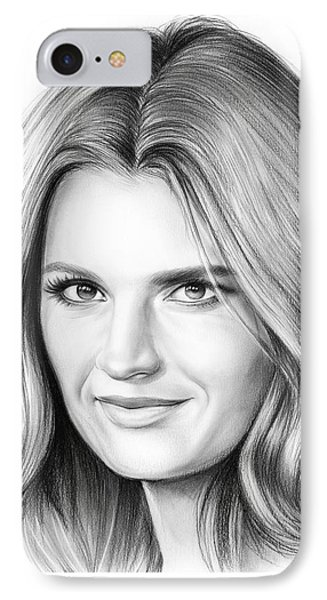 Stana Katic IPhone Case by Greg Joens