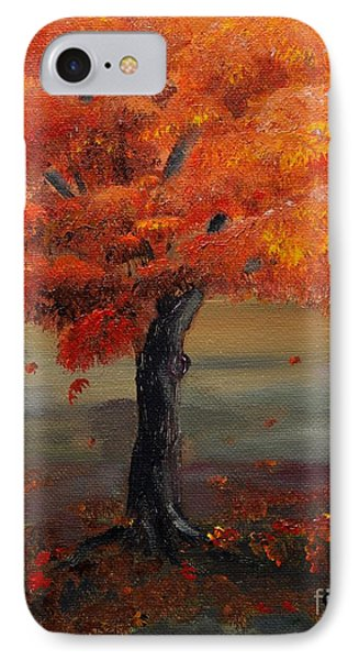 Stand Alone In Color - Autumn - Tree IPhone Case