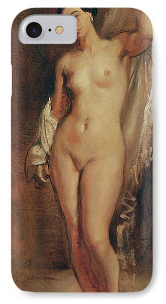 Standing Female Nude Phone Case by Theodore Chasseriau