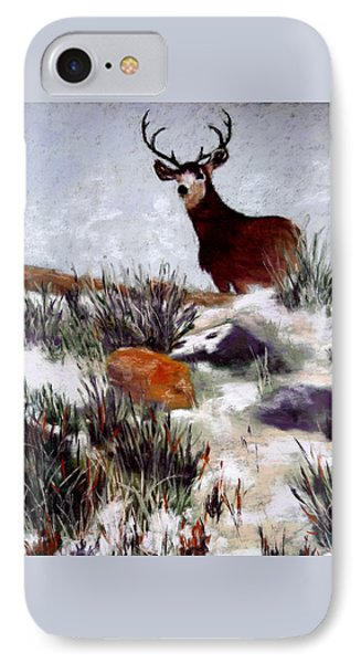 IPhone Case featuring the painting Standing Guard by Nancy Jolley