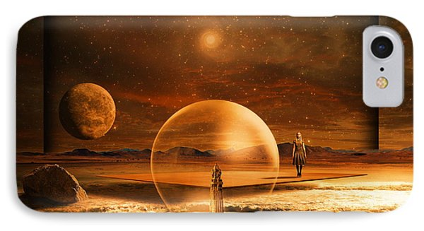 IPhone Case featuring the digital art Standing In Time by Franziskus Pfleghart