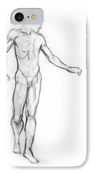 Standing Male Nude Phone Case by Adam Long