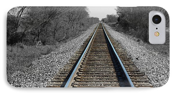 Standing On The Tracks IPhone Case by Robyn Stacey