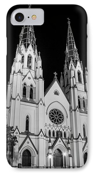 Standing Tal B Wl Cathedral Of St John The Baptist Historic Savannah Georgia Art IPhone Case