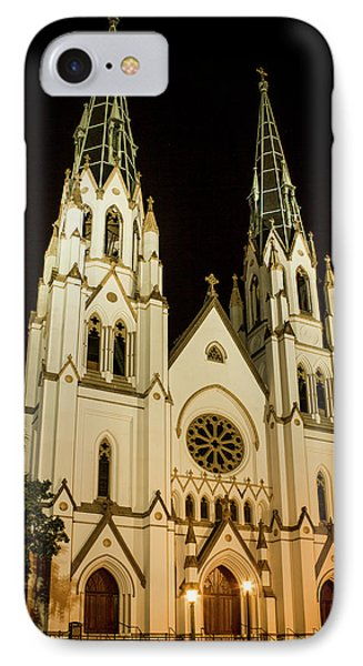 Standing Tall Cathedral Of St John The Baptist Historic Savannah Georgia Art IPhone Case
