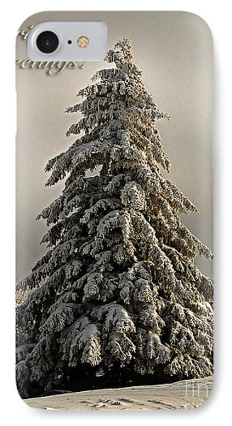 Standing Tall Christmas Card Phone Case by Lois Bryan