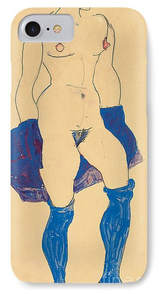 Standing Woman With Shoes And Stockings Phone Case by Egon Schiele