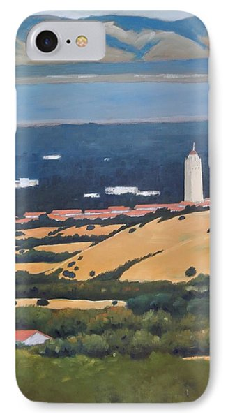 IPhone Case featuring the painting Stanford From Hills by Gary Coleman