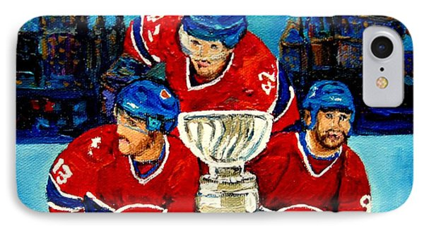Stanley Cup Win In Sight Playoffs   2010 Phone Case by Carole Spandau