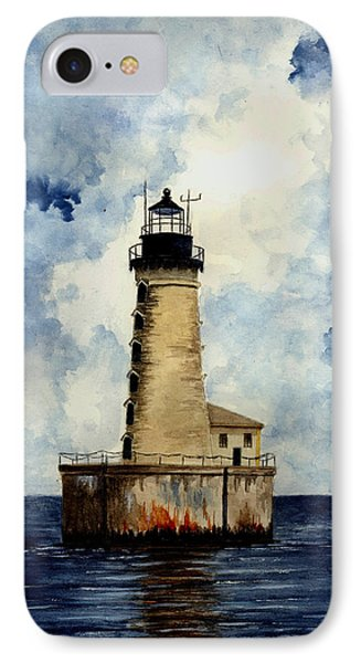 Stannard Rock Lighthouse Phone Case by Michael Vigliotti