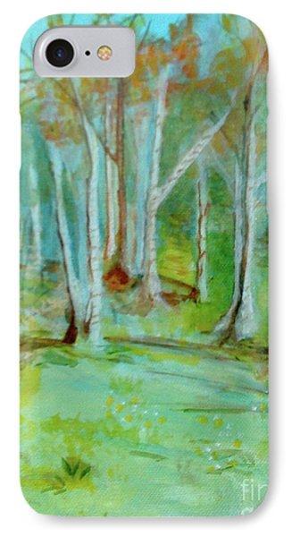 Stanwick Lakes Trees IPhone Case