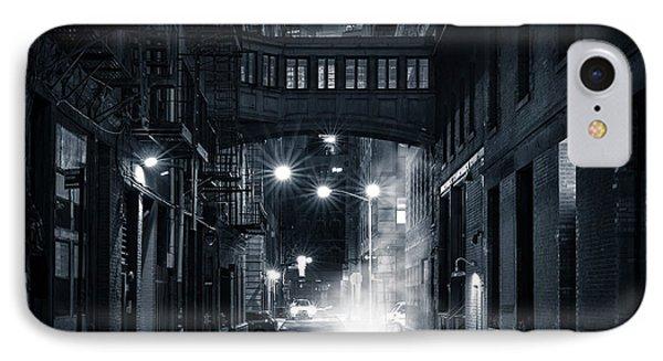 Staple Street Skybridge By Night IPhone Case by Mihai Andritoiu