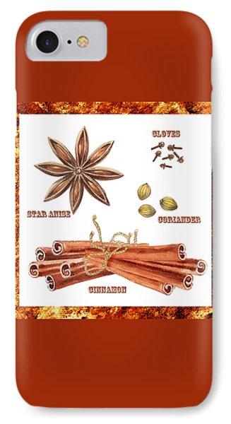 Star Anise Cloves Coriander Cinnamon IPhone Case