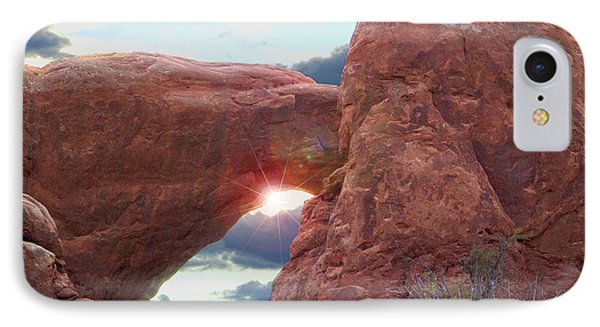 IPhone Case featuring the digital art Star Arch by Gary Baird