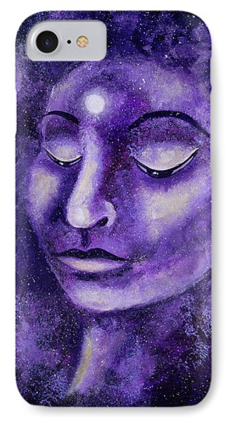 Star Buddha Of Purple Patience IPhone Case by Laura Iverson