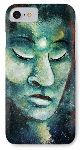Star Buddha Of Teal Tranquility IPhone Case by Laura Iverson