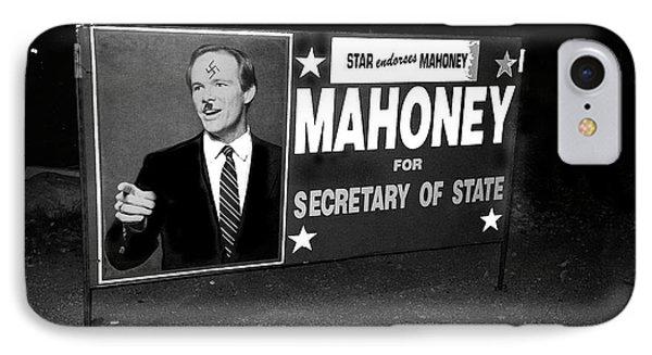 Star Endorses Mahoney Poster Defaced With Swastika Tucson Arizona IPhone Case