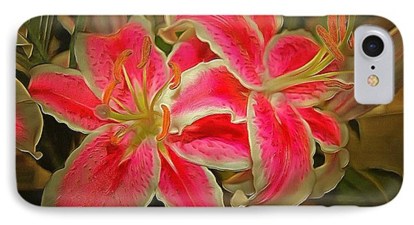 Star Gazer Lilies IPhone Case