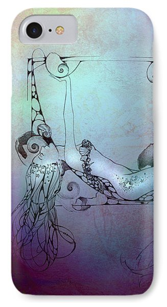 IPhone Case featuring the painting Star Mermaid by Ragen Mendenhall