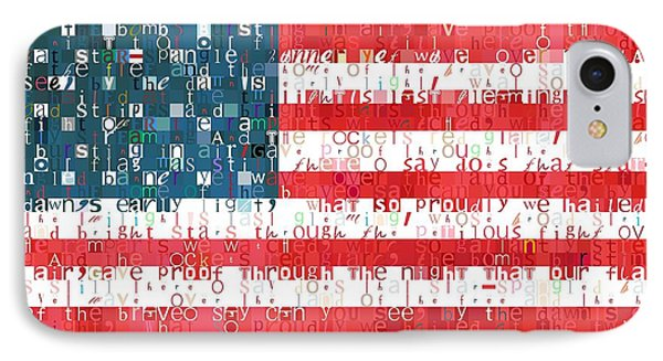 Star Spangled Banner American Flag IPhone Case by Dan Sproul