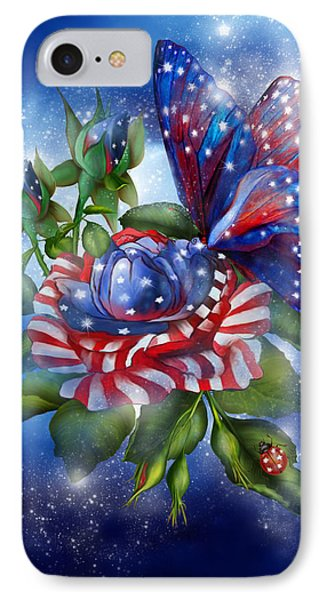 Star Spangled Butterfly IPhone Case by Carol Cavalaris