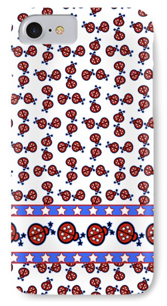 Star-spangled Lady Bugs IPhone Case