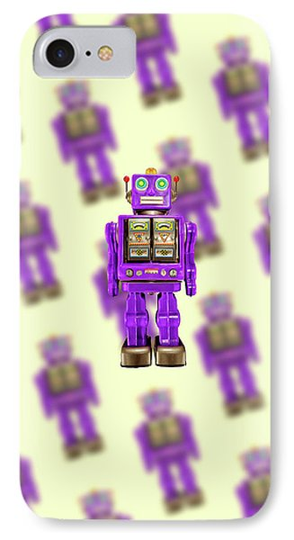 IPhone Case featuring the photograph Star Strider Robot Purple Pattern by YoPedro