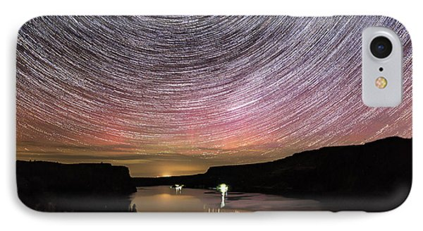 IPhone Case featuring the photograph Star Trails And Aurora At Billy Chinook by Cat Connor