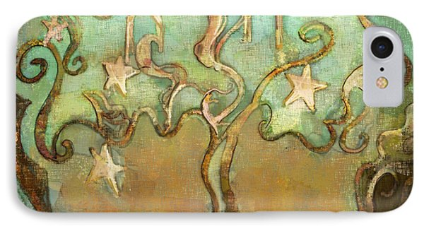 IPhone Case featuring the tapestry - textile Star Tree by Carrie Joy Byrnes