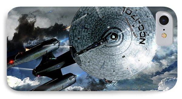 Johnny Carson iPhone 7 Case - Star Trek Into Darkness, Original Mixed Media by Thomas Pollart